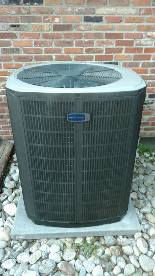 High efficiency 2-stage variable speed 17 SEER ac outside condenser unit installed in 2017
