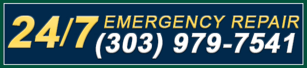Emergency service ad – for repairs after hours call 303-979-7541