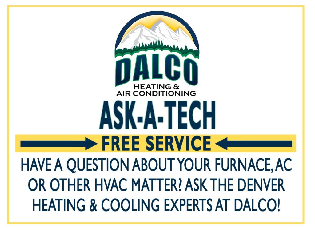 Ask-A-Tech graphic ad – online free service to get furnace and AC answers and help