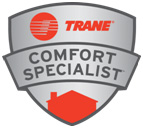 Trane Comfort Specialist logo for certified dealers installing their furnaces and air conditioners