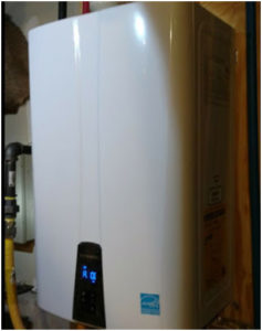 Water heater installed in Denver area home by Dalco Heating & Air Conditioning tankless