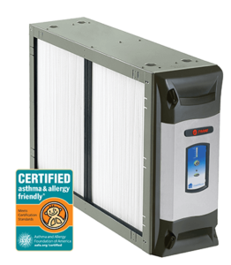 Trane Clean Effects indoor air cleaner, installed by Dalco Heating & Air to clean and sanitize indoor air from bacteria, viruses, mold, pollen and more