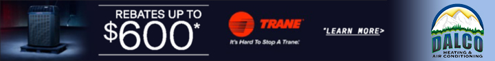 $600 rebate special available Fall 2020 for purchase of Trane unit installed