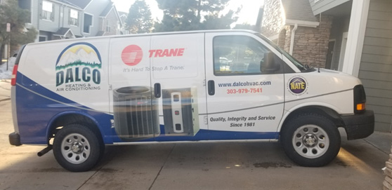 DALCO Heating & Air Conditioning van in Denver